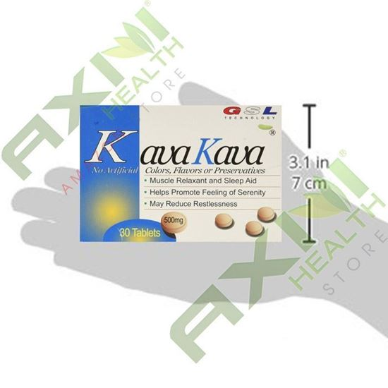 Picture of GSL Kava Kava - 30 tablets/box